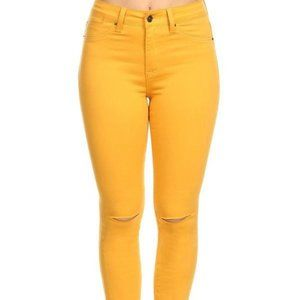 Size 13 Gold High Rise Skinny Jeans